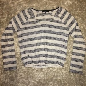Striped Sanctuary Cropped Sweater